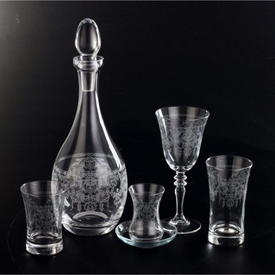 61 Pieces Glass Set - Bohem