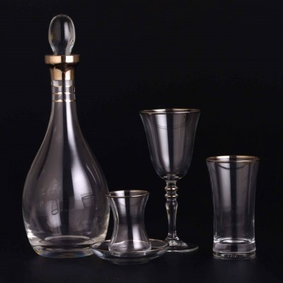 49 Pieces Glass Set - Duru Platinium - 12 People