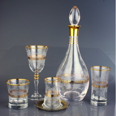 61 Pieces Glass Set - Estel Gold - 12 People