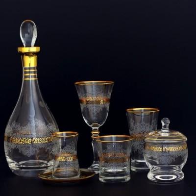 32 Pieces Glass Set - Estel Gold