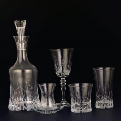 61 Pieces Glass Set - HD Yeşim - 12 people