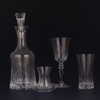 49 Pieces Glass Set - HD Yeşim - 12 people