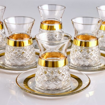 451-391 TEA SET - PITI KARE GOLD
