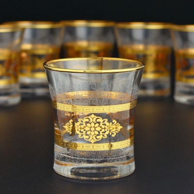 Water Glass Set of 6 - 420014- Masal Gold