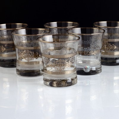 Water Glass Set of 6 - 420014- Masal Platinum