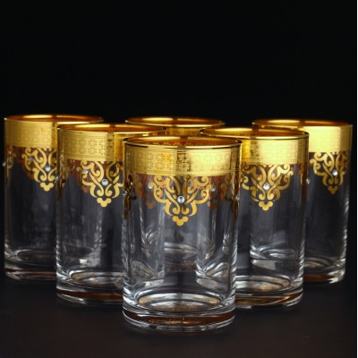 Water Glass Set of 6 - Ottoman Gold