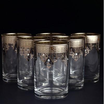 Water Glass Set of 6 - Ottoman Platinum
