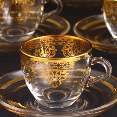 97984 Coffee Set With Handle - Ottoman Gold