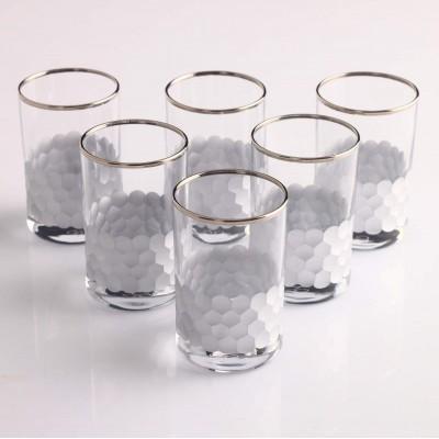 Water Glass Set of 6 - Petek Platinum