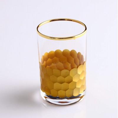 Water Glass Set of 6 - Petek Gold