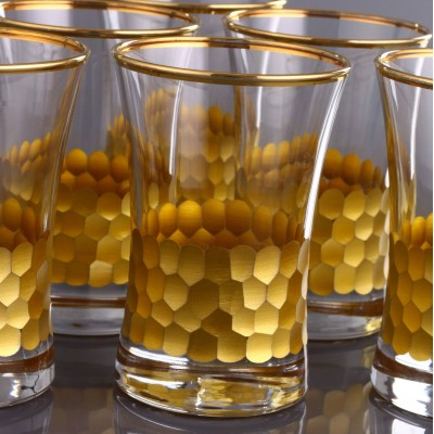 Water Glass Set of 6 - 420013 - Petek Gold