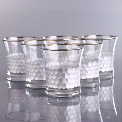 Water Glass Set of 6 - 420014 - Petek Platinum