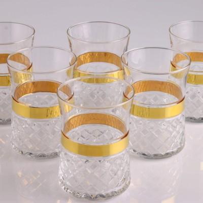 Water Glass Set of 6 - 420322 - Piti Kare Gold