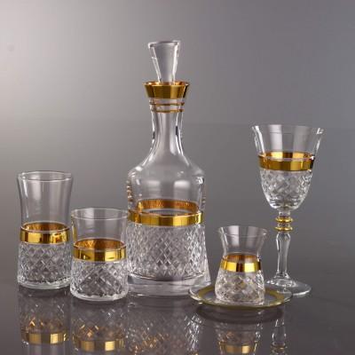 31 Pieces Glass Set - Piti Kare Gold