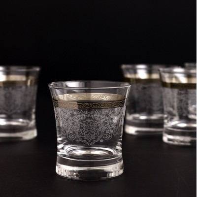 Water Glass Set of 6 - 420014- Rumeysa Platinum