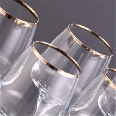 Juice Glass Set of 6 - LAL376 - Safir Platinium