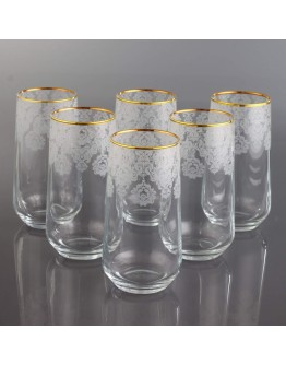 Juice Glass Set of 6 - 420015 - Helena Gold