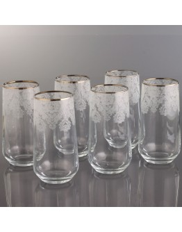 Juice Glass Set of 6 - 420015 - Helena Platinum