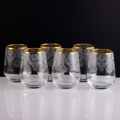 Water Glass Set of 6 - 41536 - Helena Gold