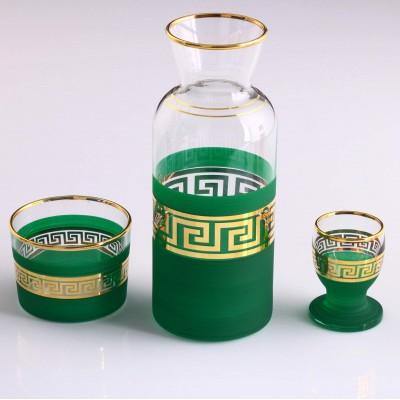 Zamzam Set - Antique Gold - Green