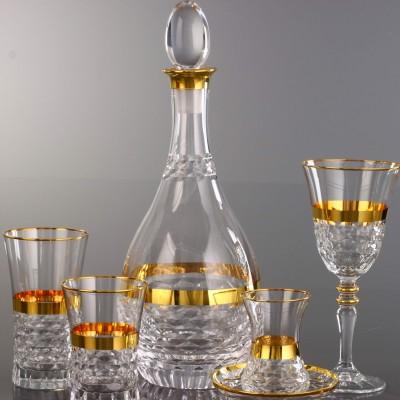 31 Pieces Glass Set - Hisar Bant Gold - Set of 6