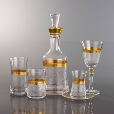31 Pieces Glass Set - Ibak Gold - Set of 6