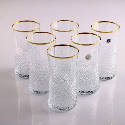 Juice Glass Set of 6 - 420845  - Vizyon Gold