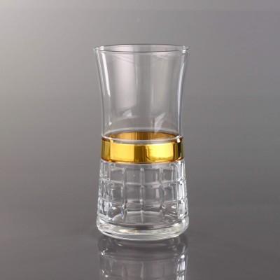 Juice Glass Set of 6 - 420845  - Mini Kare Bant Gold