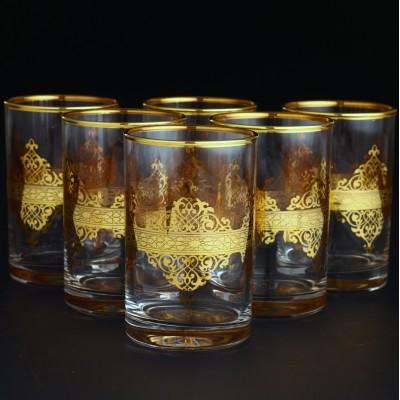 Water Glass Set of 6 - Nida Gold