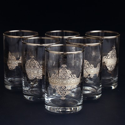 Water Glass Set of 6 - Nida Platinum