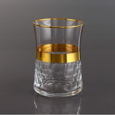 Water Glass Set of 6 - 420322 - Petek Bant Gold
