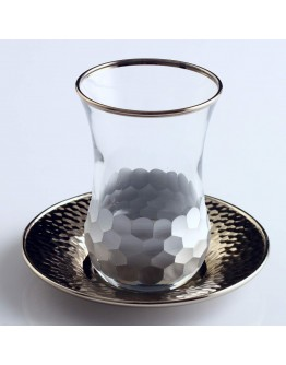 Tea Set in Petek Silver, Set of 6+6