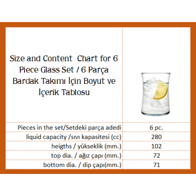 Water Glass Set of 6 - 420322 - Ibak Gold